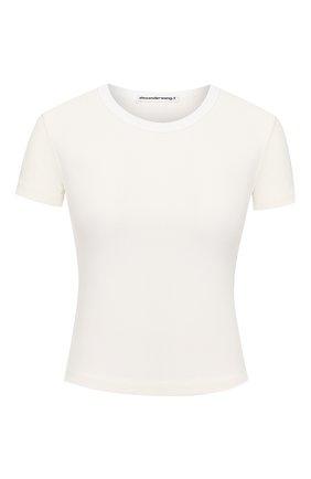 Женская футболка из вискозы ALEXANDERWANG.T кремвого цвета, арт. 4CC1201002 | Фото 1