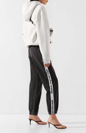 Женские джинсы с лампасами DENIM X ALEXANDER WANG серого цвета, арт. 4D994391CF | Фото 2