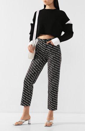 Женские джинсы DENIM X ALEXANDER WANG черно-белого цвета, арт. 4D994401DJ | Фото 2