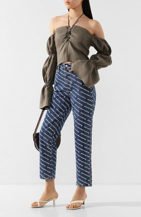 Женские джинсы DENIM X ALEXANDER WANG синего цвета, арт. 4DC1204643 | Фото 2