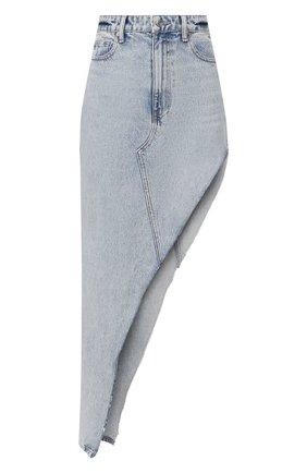 Женская джинсовая юбка DENIM X ALEXANDER WANG голубого цвета, арт. 4DC1205648 | Фото 1