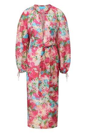 Женское платье из смеси хлопка и шелка A MERE CO разноцветного цвета, арт. AMC/SS2004A | Фото 1