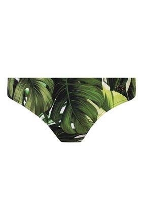 Женский плавки-бикини DOLCE & GABBANA зеленого цвета, арт. 02A03J/FSGT0   Фото 1