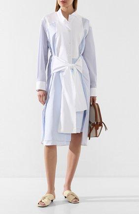 Женское хлопковое платье LOEWE голубого цвета, арт. S2106292GA | Фото 2