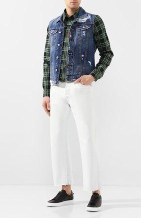 Мужской джинсовый жилет DSQUARED2 синего цвета, арт. S74FB0251/S30309 | Фото 2