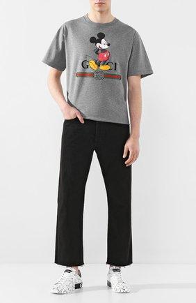 Мужская хлопковая футболка disney x gucci GUCCI серого цвета, арт. 565806/XJB67 | Фото 2