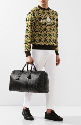 Мужская дорожная сумка MCM черного цвета, арт. MUV 7AVY02 | Фото 2