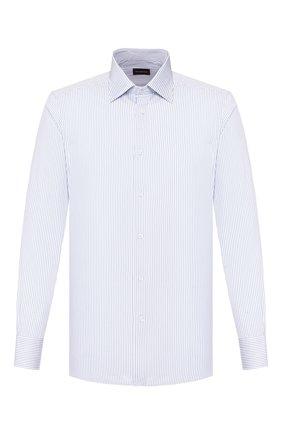 Мужская хлопковая сорочка ERMENEGILDO ZEGNA синего цвета, арт. 701326/9MS0PA | Фото 1