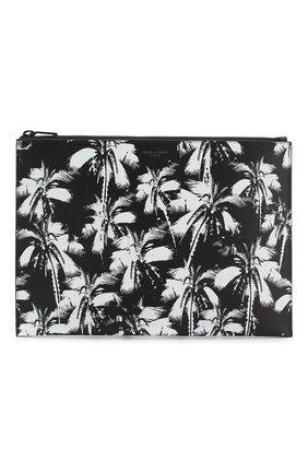 Мужская кожаный футляр для документов SAINT LAURENT черно-белого цвета, арт. 397294/1FHAU | Фото 1