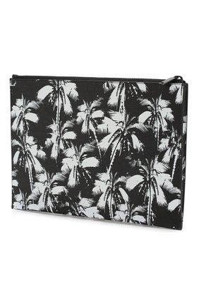 Мужская кожаный футляр для документов SAINT LAURENT черно-белого цвета, арт. 397294/1FHAU | Фото 2