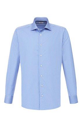 Мужская хлопковая сорочка ZILLI синего цвета, арт. MFT-MERCU-01252/RZ01 | Фото 1