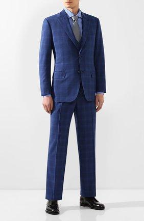 Мужская хлопковая сорочка ZILLI синего цвета, арт. MFT-MERCU-01252/RZ01 | Фото 2