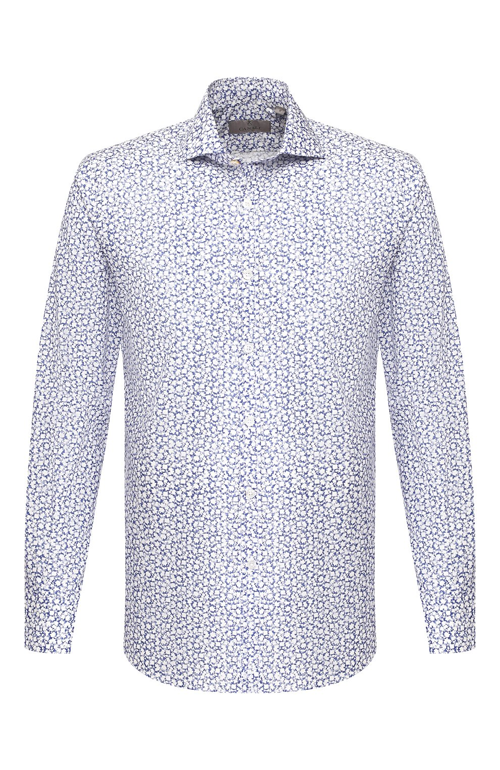 Мужская хлопковая сорочка CANALI синего цвета, арт. L7B1/GL00465 | Фото 1