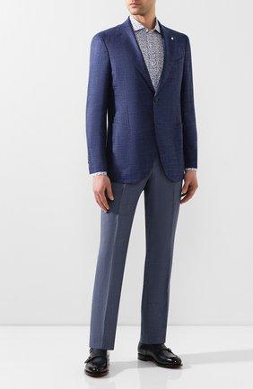 Мужская хлопковая сорочка CANALI синего цвета, арт. L7B1/GL00465 | Фото 2