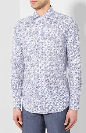 Мужская хлопковая сорочка CANALI синего цвета, арт. L7B1/GL00465 | Фото 3