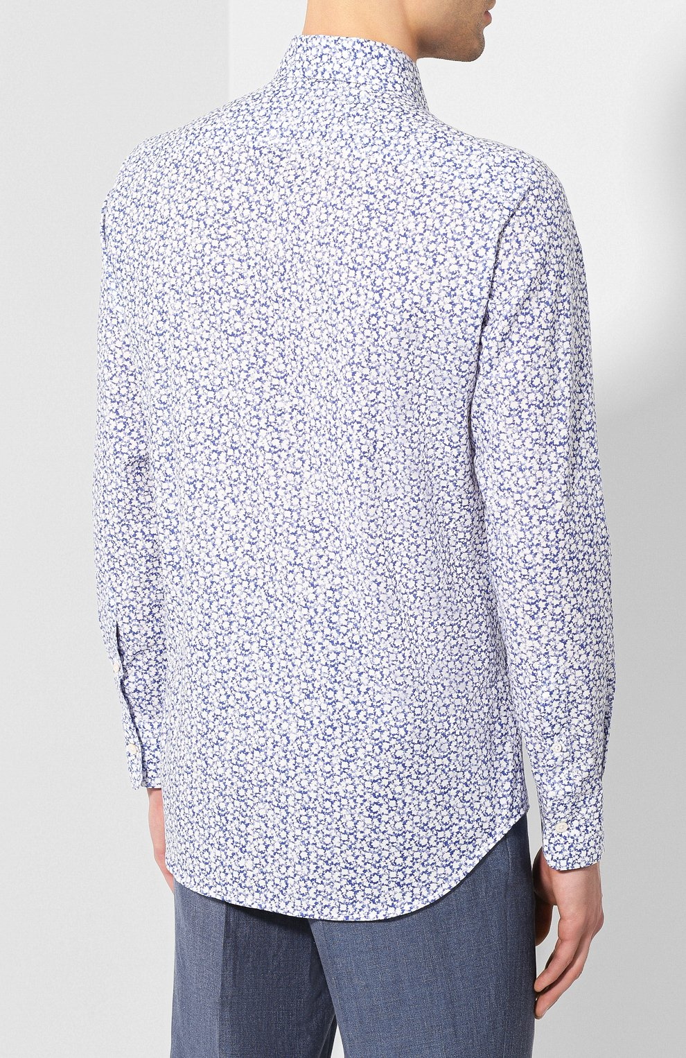 Мужская хлопковая сорочка CANALI синего цвета, арт. L7B1/GL00465 | Фото 4