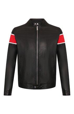Мужская кожаная куртка ICEBERG черного цвета, арт. 20E I1P0/Z031/6801   Фото 1