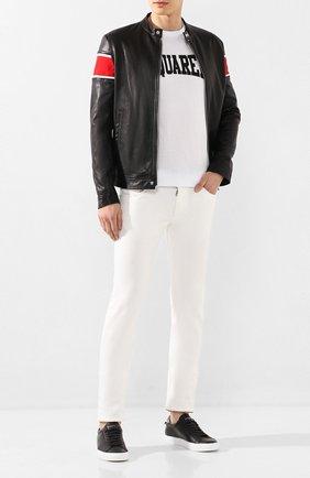 Мужская кожаная куртка ICEBERG черного цвета, арт. 20E I1P0/Z031/6801   Фото 2