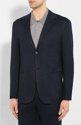 Мужской костюм из смеси хлопка и кашемира KNT синего цвета, арт. UAS0101K06S43 | Фото 2