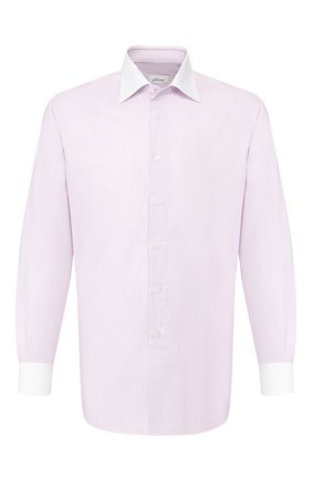 Мужская хлопковая сорочка BRIONI розового цвета, арт. RCLU2L/P905S | Фото 1