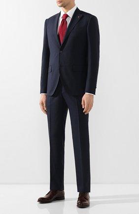 Мужской шерстяной костюм SARTORIA LATORRE темно-синего цвета, арт. A6I7EF U70761 | Фото 1