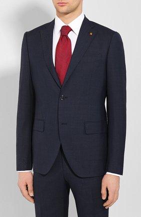 Мужской шерстяной костюм SARTORIA LATORRE темно-синего цвета, арт. A6I7EF U70761 | Фото 2