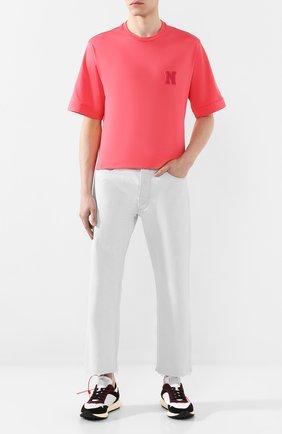Мужская хлопковая футболка NEIL BARRETT розового цвета, арт. BJT738B/N595S | Фото 2
