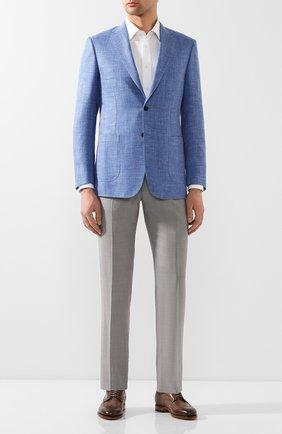 Мужской шерстяные брюки ZILLI светло-серого цвета, арт. M0T-40-38N-C6016/0001 | Фото 2