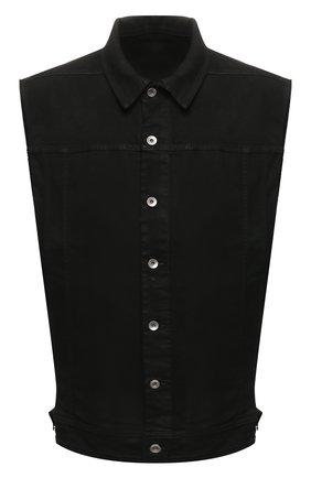 Мужской джинсовый жилет DRKSHDW черного цвета, арт. DU20S5764 SBB | Фото 1