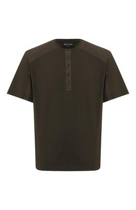 Мужская хлопковая футболка ANDREA YA'AQOV хаки цвета, арт. 20M0PW20 | Фото 1