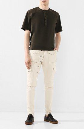 Мужская хлопковая футболка ANDREA YA'AQOV хаки цвета, арт. 20M0PW20 | Фото 2