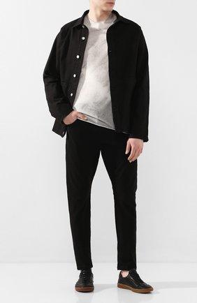 Мужская хлопковая куртка ANDREA YA'AQOV черного цвета, арт. 20MDEN36 | Фото 2