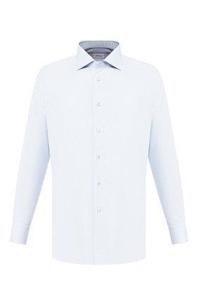 Мужская хлопковая сорочка BRIONI голубого цвета, арт. RCLU0U/P907L | Фото 1