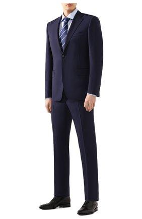 Мужская хлопковая сорочка BRIONI голубого цвета, арт. RCLU0U/P907L | Фото 2