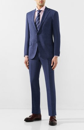 Мужской костюм из смеси шерсти и шелка CORNELIANI синего цвета, арт. 85N268-0118262/92 | Фото 1