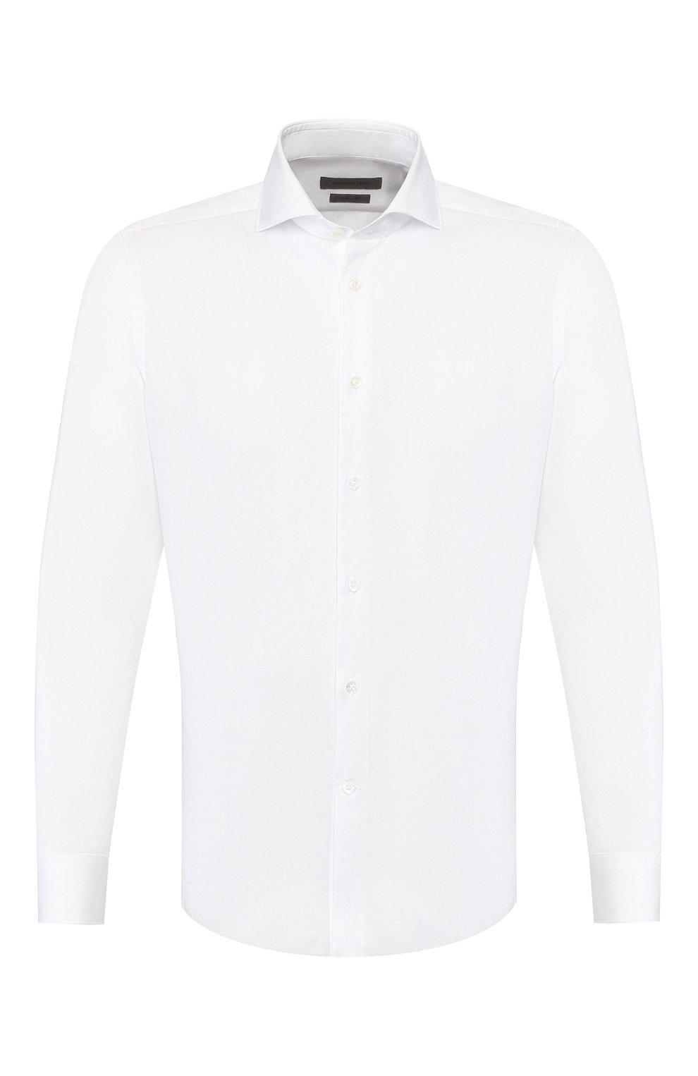 Мужская хлопковая сорочка CORNELIANI белого цвета, арт. 85P002-0111408/00 | Фото 1