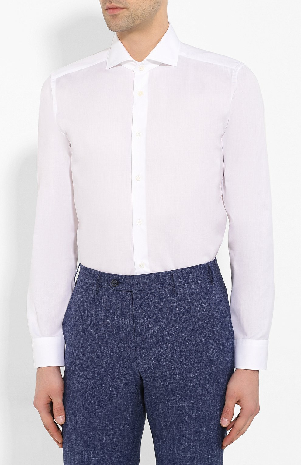 Мужская хлопковая сорочка CORNELIANI белого цвета, арт. 85P002-0111408/00 | Фото 3