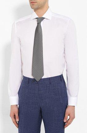Мужская хлопковая сорочка CORNELIANI белого цвета, арт. 85P002-0111408/00 | Фото 4