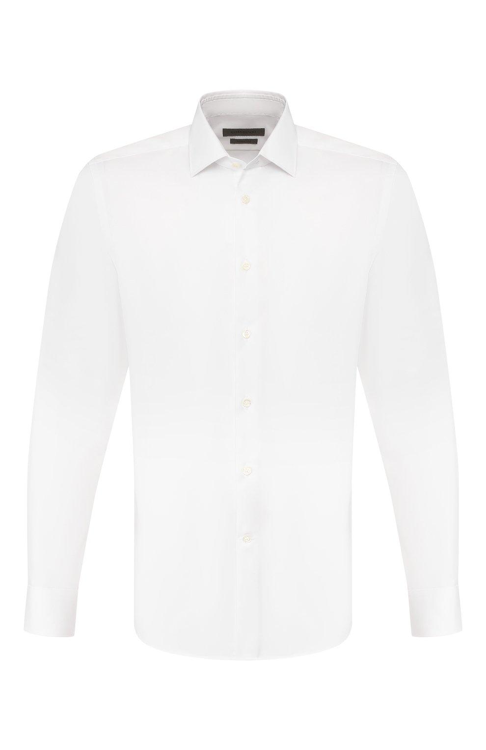 Мужская хлопковая сорочка CORNELIANI белого цвета, арт. 85P010-0111408/00   Фото 1