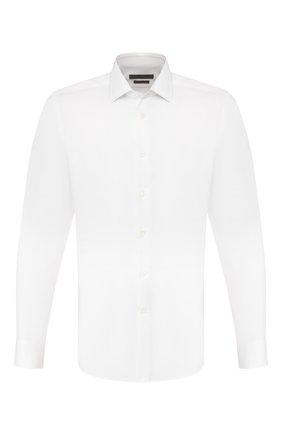 Мужская хлопковая сорочка CORNELIANI белого цвета, арт. 85P010-0111408/00 | Фото 1
