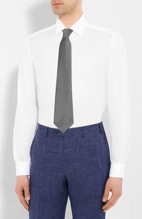 Мужская хлопковая сорочка CORNELIANI белого цвета, арт. 85P010-0111408/00   Фото 4