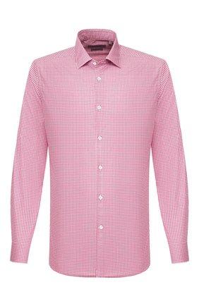 Мужская хлопковая сорочка CORNELIANI розового цвета, арт. 85P010-8111382/00 | Фото 1