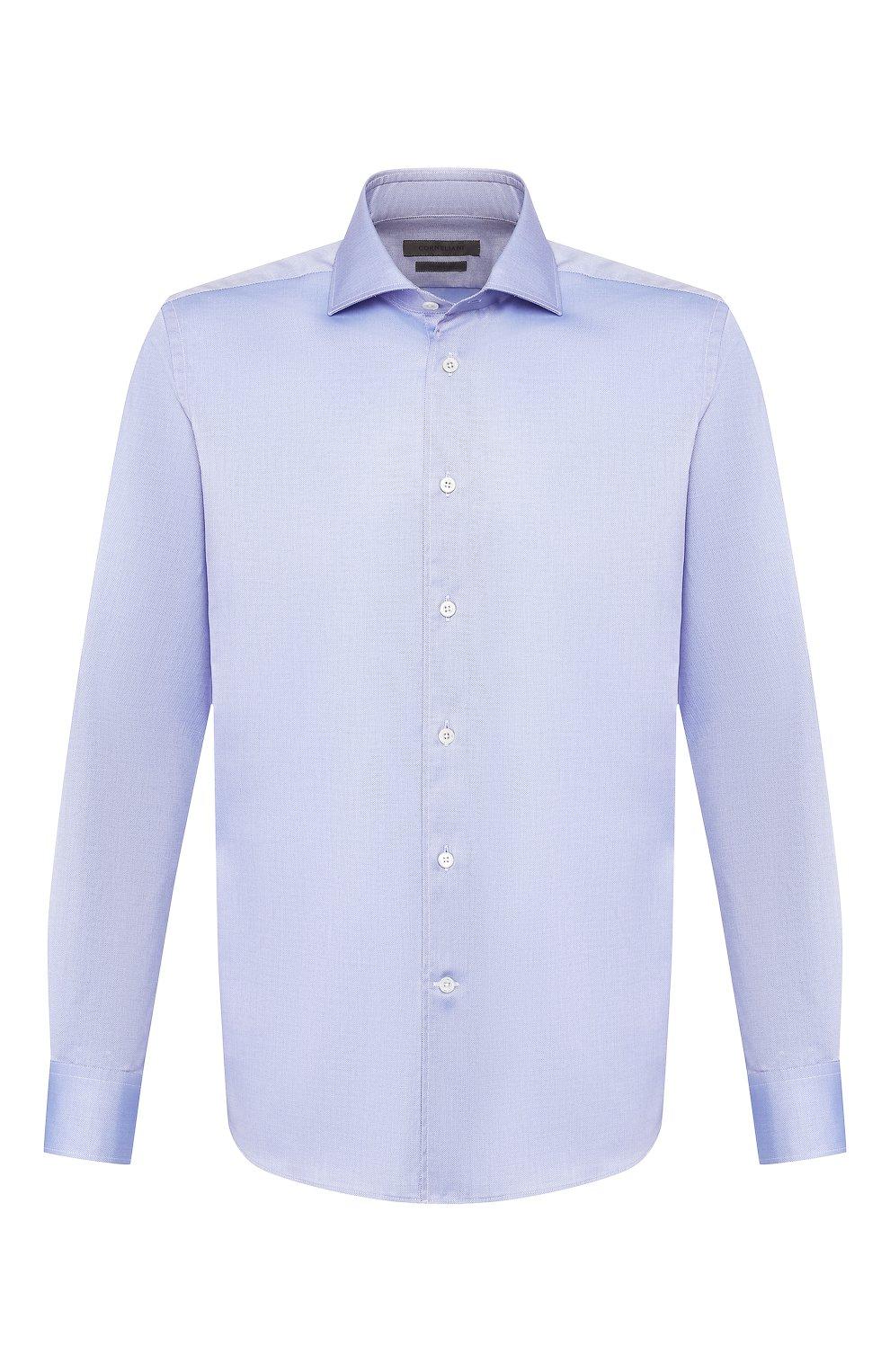 Мужская хлопковая сорочка CORNELIANI синего цвета, арт. 85P100-0111264/00 | Фото 1