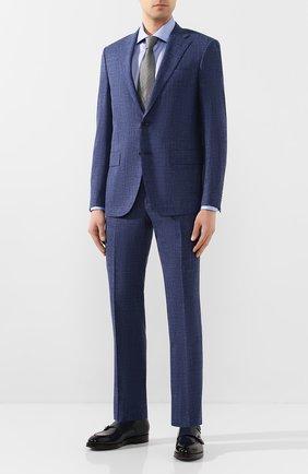 Мужская хлопковая сорочка CORNELIANI синего цвета, арт. 85P100-0111264/00 | Фото 2