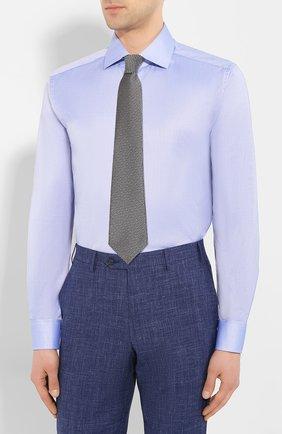 Мужская хлопковая сорочка CORNELIANI синего цвета, арт. 85P100-0111264/00 | Фото 4