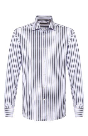 Мужская хлопковая сорочка CORNELIANI синего цвета, арт. 85P100-0111308/00 | Фото 1