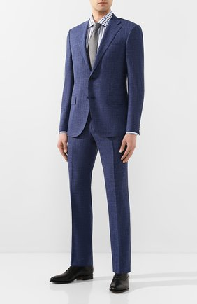 Мужская хлопковая сорочка CORNELIANI синего цвета, арт. 85P100-0111308/00 | Фото 2