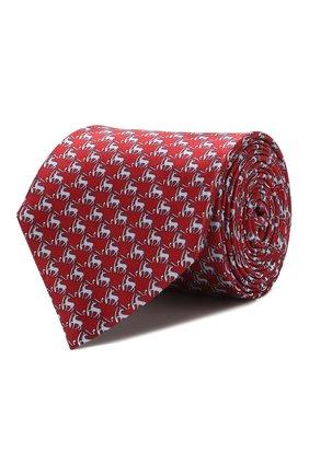 Мужской шелковый галстук CORNELIANI красного цвета, арт. 85U390-0120332/00   Фото 1