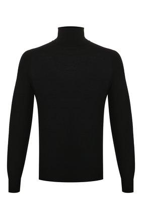 Мужской шерстяная водолазка GIVENCHY черного цвета, арт. BM90BU406B | Фото 1