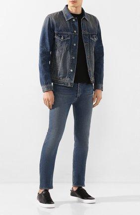 Мужские джинсы GIVENCHY синего цвета, арт. BM50DF50D6 | Фото 2